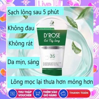 gel tẩy lông, dưỡng trắng,không đau, không rát, triet long D ROSE thumbnail