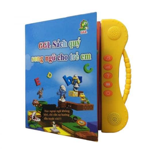 Sách song ngữ ( sách có bút chấm đọc và viết - 2 ngỗn ngữ Anh Việt - Kể truyện và các bài hát )
