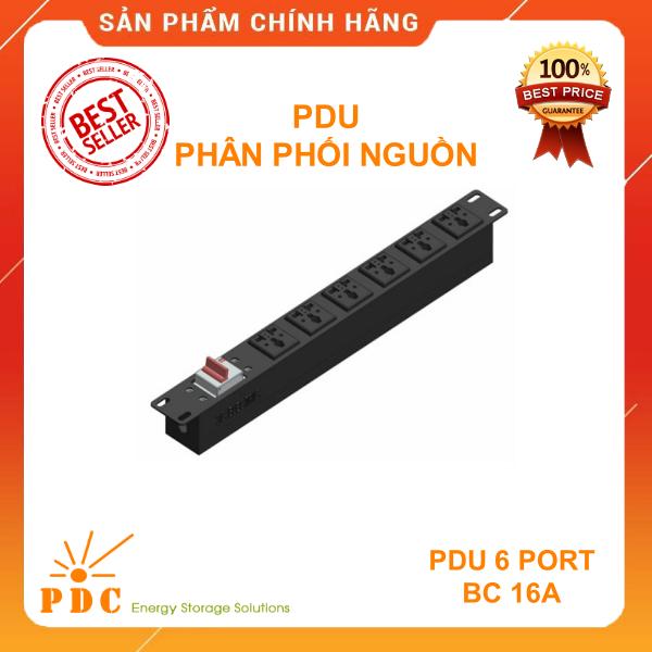 Bảng giá Thanh Phân Phối Nguồn Điện PDU - 6 Ổ Cắm 3 Chấu Chuẩn Đa Dụng - PDU Rack Mount 19 inch 1U - Có Cầu Dao Tự Động 16A Phong Vũ
