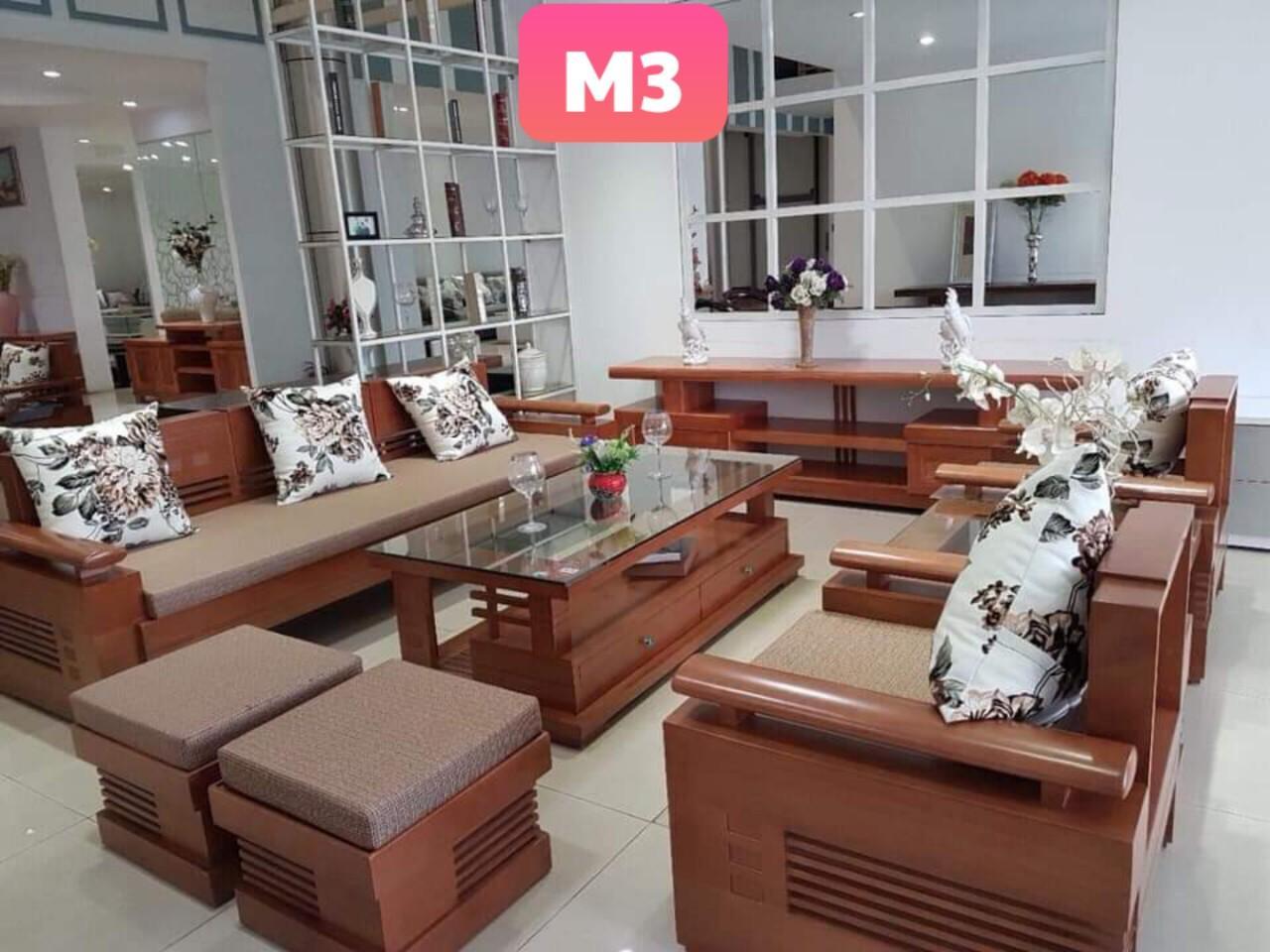 Bàn Ghế Sofa Phòng Khách Gỗ Sồi Nga Mẫu 03 By Nội Thất Lộc Phát.
