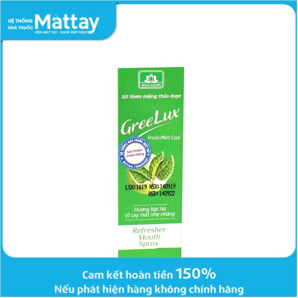 Xịt Thơm Miệng Thảo Dược GREELUX Fresh Mint Cool