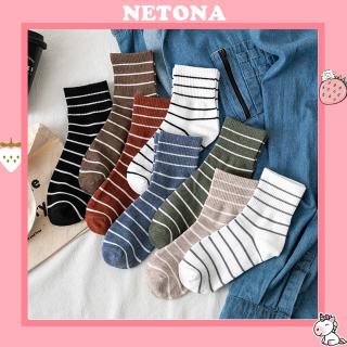 Tât cao cổ Netona vớ kẻ sọc nhiều màu thời trang TN71 thumbnail