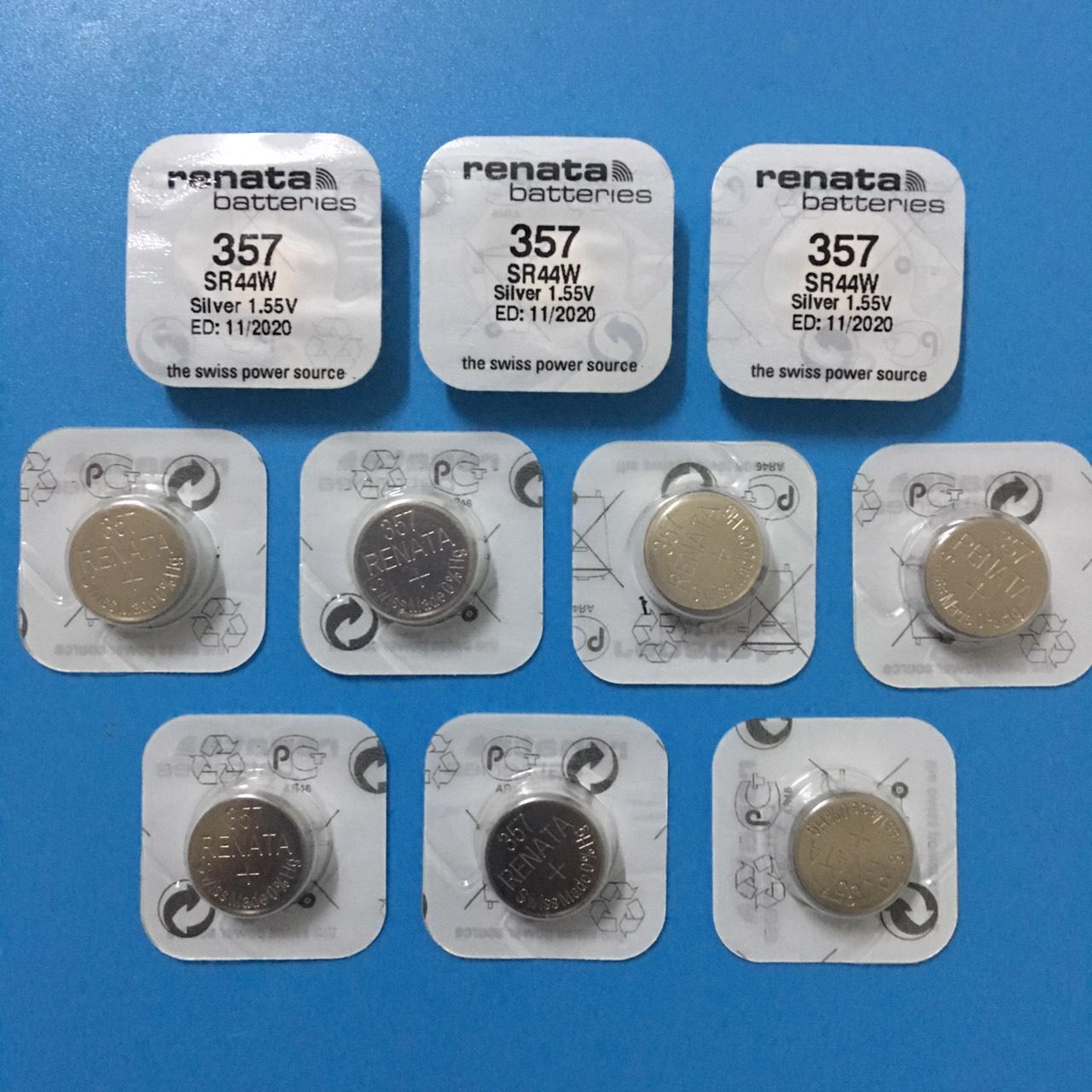 Pin SR44W/357 Renata Vỉ 1 Viên - Combo 10 viên pin sr44w Renata