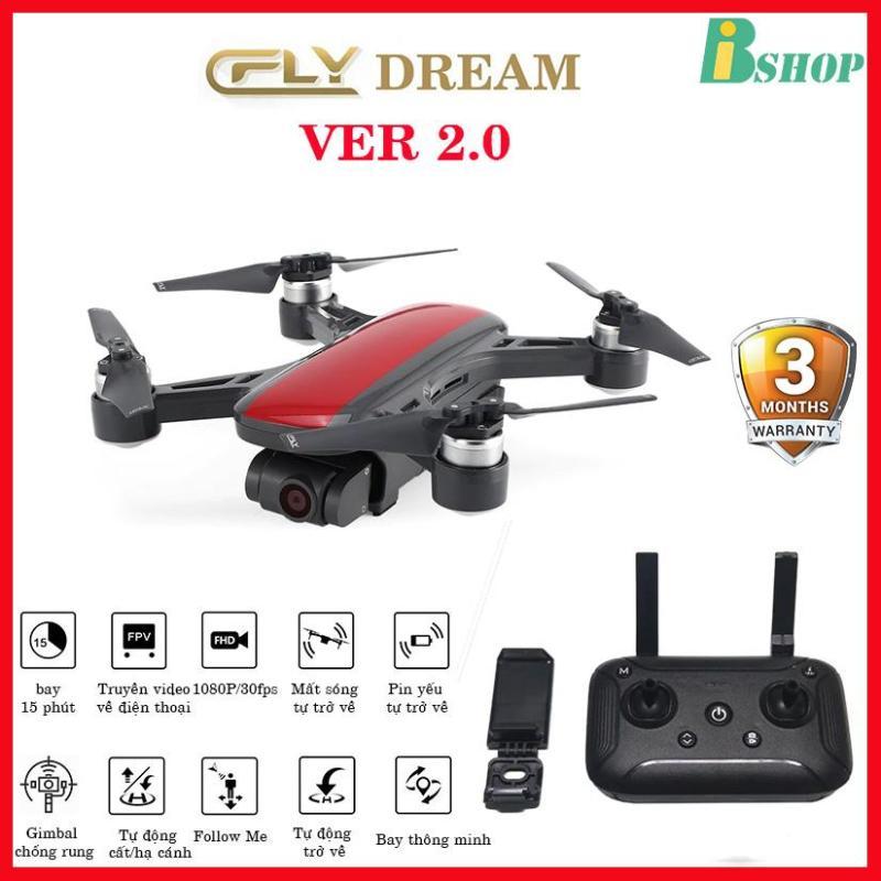 Flycam C-Fly Dream  Ver 2.0 GPS, Camera 1080P , gimbal chống rung 2 trục, bảo hành 3 tháng, thiết kế giống DJI spark
