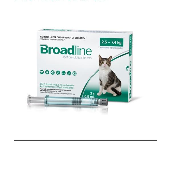 1 Tuýp Nhỏ Gáy Tri Ve Rận Cho Mèo Broadline 2.5-7.5Kg