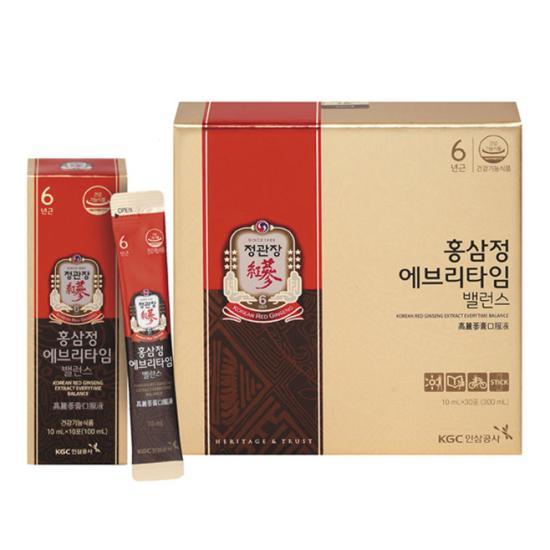 Tinh chất hồng sâm pha sẵn KGC Cheong Kwan Jang Everytime Balance (Hộp 30 gói x 10ml)