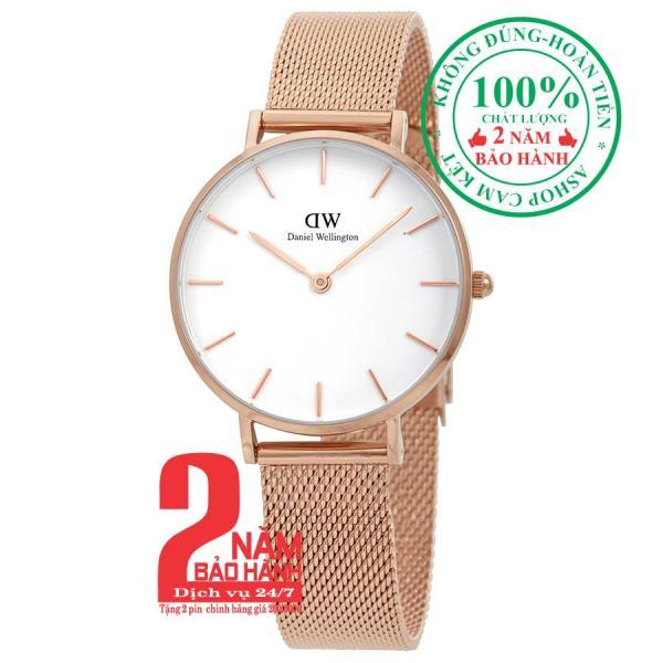 Đồng hồ nữ Daniel WelIngton Classic Petite Melrose 28mm - Màu vàng hồng (Rose Gold), mặt trắng (White) DW00100219