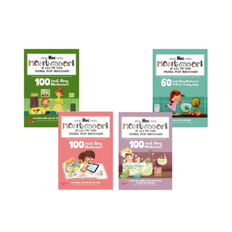 Sách - Học Montessori Để Dạy Trẻ Theo Phương Pháp Montessori (Bộ 4 Cuốn)