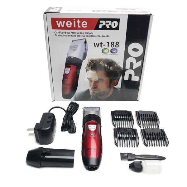 Tông đơ cắt tóc trẻ em, Tông đơ 2 pin Weite pro WT-188 - Bảo hành 12 tháng nhập khẩu