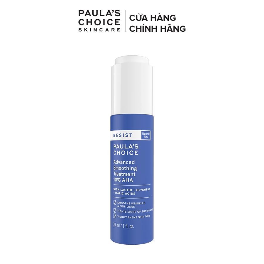 Lotion tẩy da chết làm sáng và căng bóng da Paula's Choice RESIST Advanced Smoothing Treatment 10% AHA