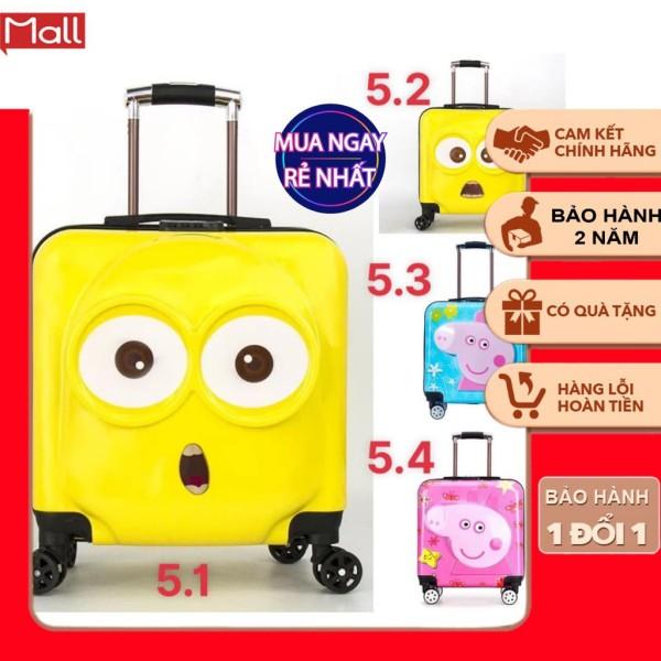 Giá bán ㍿ Vali Kéo du lịch cho bé trai và gái 3 biểu cảm đáng yêu đựng được nhiều đồ hành lý giá rẻ