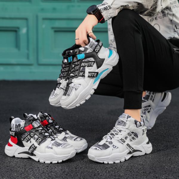 Giày cao cổ nam OFF phối màu cực kì nổi bật mẫu mới 2020