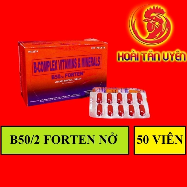 COMBO 5 VĨ 50 VIÊN B50/2 FORTEN tăng cơ, nở khung xương, tăng nước máu