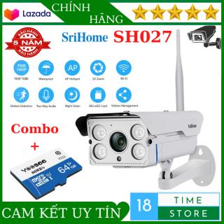 ( Bảo Hành 2 Năm ) Camera wifi ngoài trời Srihome SH027 Hình Ảnh Rõ Nét Xem Đêm Có Màu Hồng Ngoại Xa 40m Zoom X5 Chống Nước thumbnail