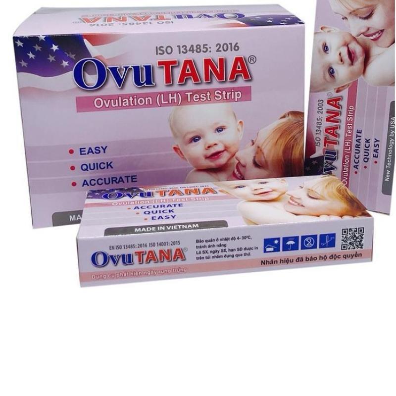 Que thử Rụng trứng Ovu Tana : hộp 12 que