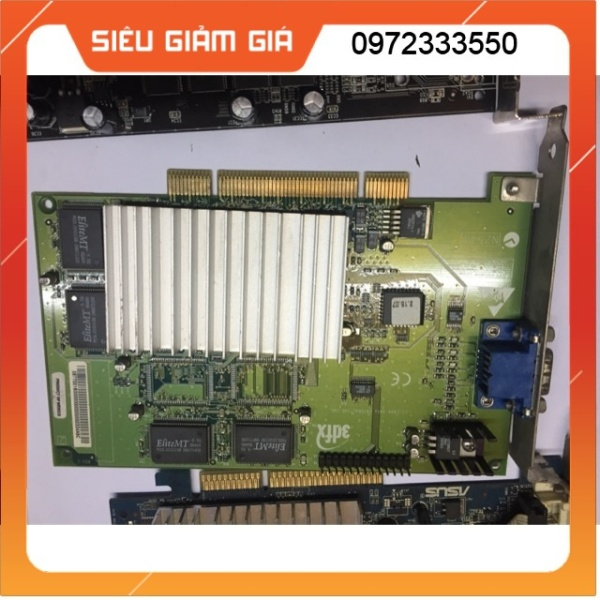 Bảng giá Card màn hình VGA khe cắm PCI 2X 4X máy cổ Phong Vũ