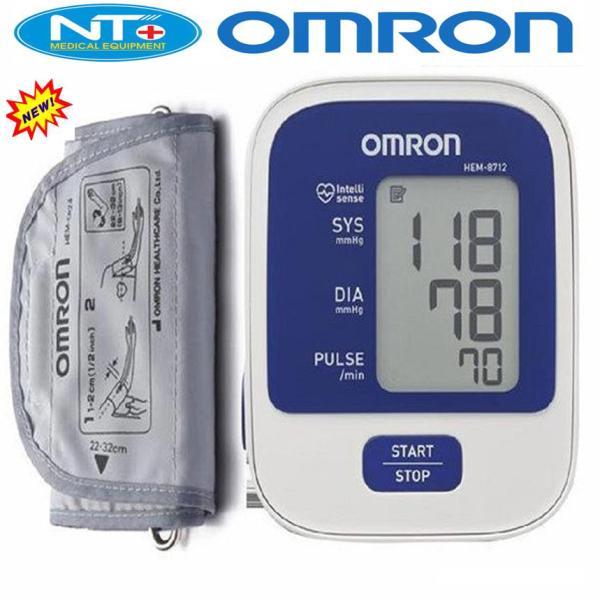 Máy đo huyết áp bắp tay Omron HEM-8712, Máy đo huyết áp điện tử bắp tay Nhật bản Omron HEM-8712 - Dụng cụ đo huyết áp, nhịp tim cho kết quả nhanh chóng, chính xác bảo vệ sức khỏe
