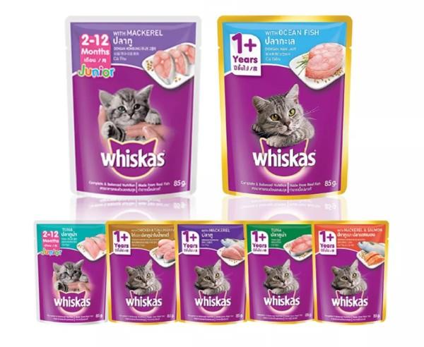 10 gói thức ăn cho mèo Whiskas gói 85g mix vị