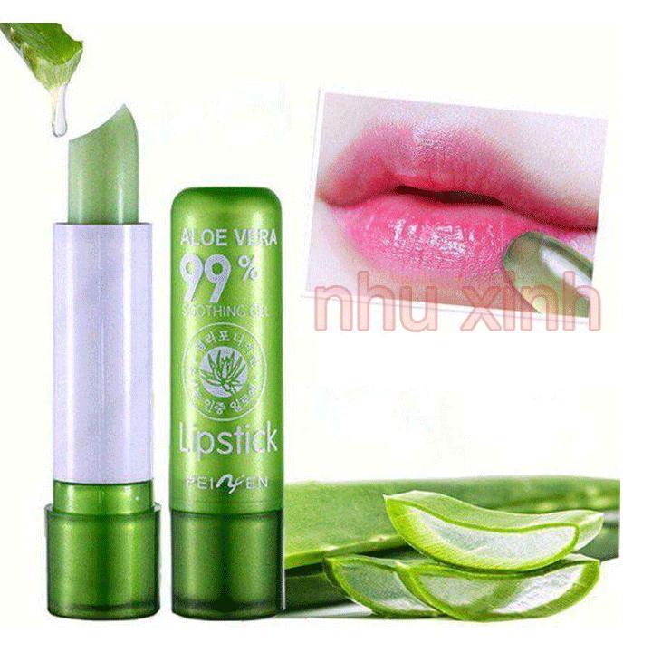 Son dưỡng môi Nha Đam Alore Vera giúp trị thâm làm hồng môi
