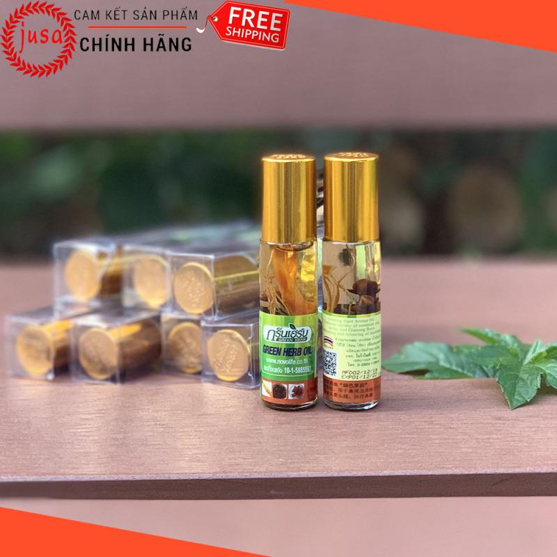 [ Hot Sale ] 1 Dầu Gió Thái Lan Green Herb Oil 8ml Từ Thảo Dược Nhân Sâm - Junsam