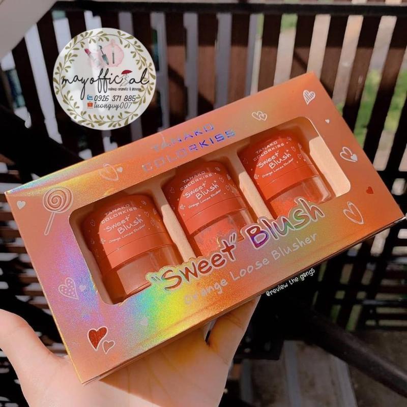 Bộ 3 má hồng dạng bột Tanako Sweet Blush Organe