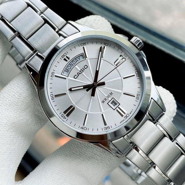 [HCM]Đồng hồ nam dây thép Casio MTP 1381D-7AV Bảo hành 1 năm- Pin trọn đời Hyma watch