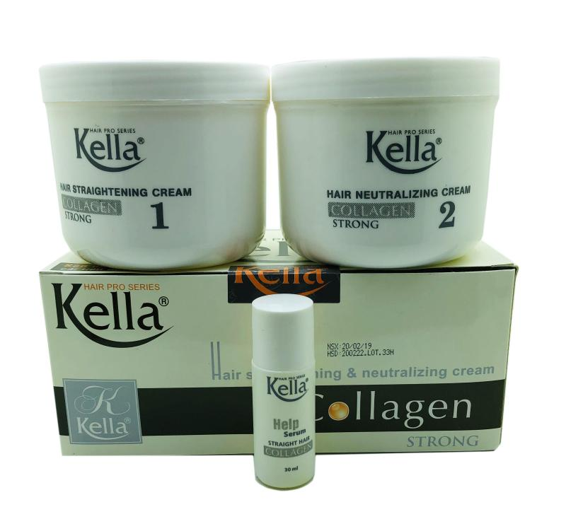 Kem Duỗi Tóc Kella Thuốc Duỗi Tóc Kella Collagen 500ml x 2