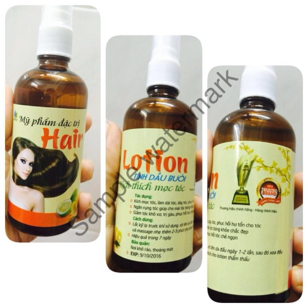Tinh dầu bưởi Kích thích mọc tóc Hair Lotion 100ml rụng tóc Dưỡng mềm mượt