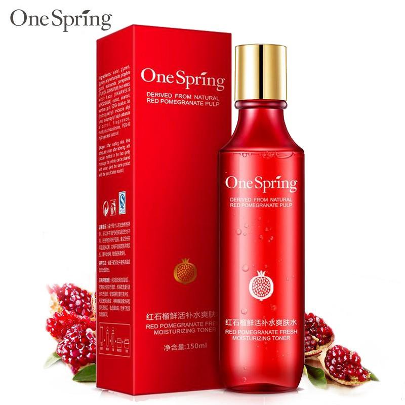 Nước hoa hồng ONE SPRING cấp ẩm se khít lỗ chân lông nước cân bằng da toner chiết xuất lựu đỏ J-TN01 cao cấp