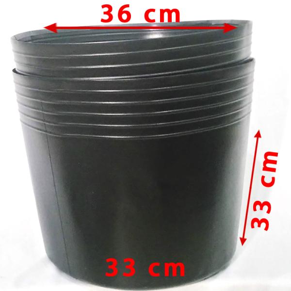 50 Chậu 36x33x32cm nhựa PE dẻo trồng cây bền từ 5 đến 10 năm-77110