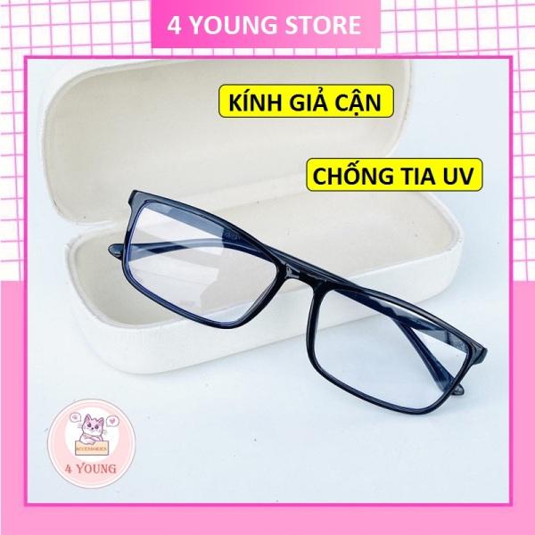 Giá bán Kính giả cận thời trang mắt vuông nam nữ phong cách Hàn Quốc bảo vệ mắt chống tia UV, kính mát Unisex 056