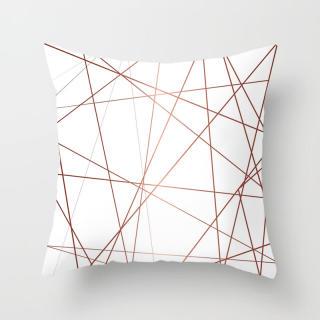 Đệm hương hoa hồng vỏ gối ngắn màu hồng lông đào phong cách bắc âu, vỏ gối sofa hình học trang trí - hình 4