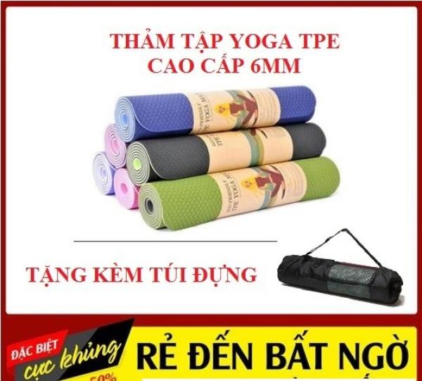 ( TẶNG TÚI ĐỰNG THẢM)Thảm Tập Yoga, Gym TPE Cao Cấp Thiết Kế -Tặng Túi Đựng Dễ Dàng Mang Đi, Thảm Tập Gym Tại Nhà, Thảm Tập Tại Nhà , Thảm Tập Tại Nhà , Thảm Tập Bụng Cao Cấp