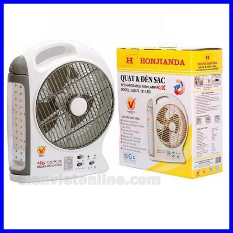 Quạt sạc và đèn 8 inch 2in1 cao cấp Honjianda HJD-FL 101 LED ( hàng Việt Nam chất lượng cao ) - Shop uy tín và chất lượng