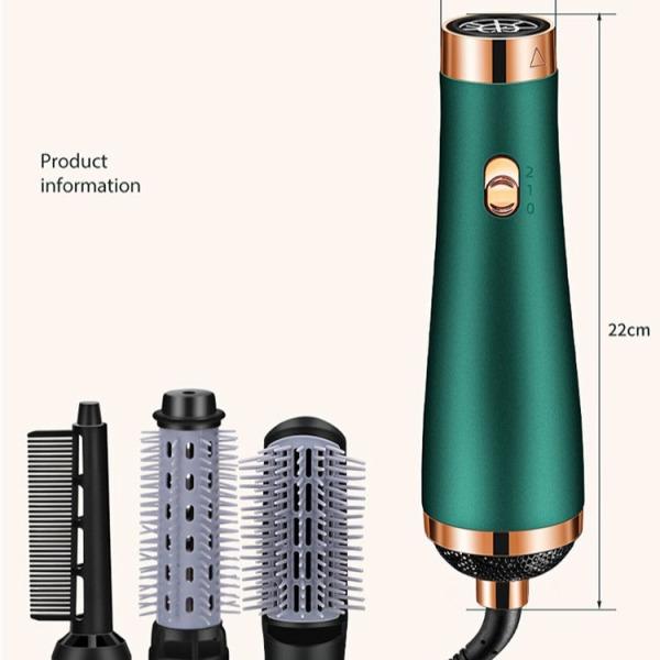 [ KÈM 3 ĐẦU LƯỢC] Máy sấy tóc lược tạo kiểu bằng khí nóng 3 cấp độ, Máy sấy tóc mẫu hot 2020 phong cách mới chăm sóc tóc bằng ion âm, Máy sấy tóc thiết kế lạ độc đáo - Công suất 1000W