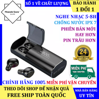 Tai Nghe Bluetooth S11 5.0 Bluetooth Nút Bấm Thế Hệ Cao Cấp Pin Kiêm Sạc Dự Phòng 4800mAh - Tai nghe bluetooth pin trâu, Tai nghe nhét tai không dây - Tai nghe nhạc pin trâu, AMOI F9 PRO, Tai nghe AMOI F270 thumbnail