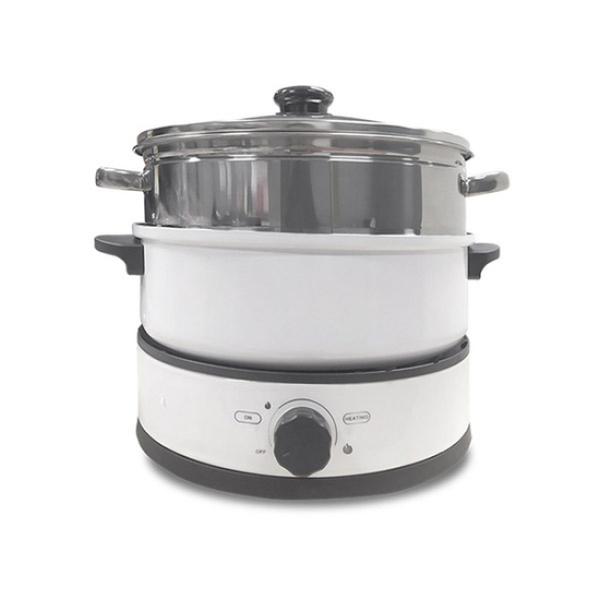 Nồi Đa Năng có thể Nấu Lẩu và Nướng BBQ Perfect PF-L06 1350W | TẶNG: 1 Xửng hấp inox 26cm