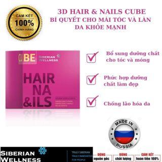 [ Nhập Khẩu Chính Hãng] 3D Hair & Nails Cube - Siberian Wellness - Ngăn rụng tóc - Củng cố cấu trúc keratin của tóc và móng Bảo vệ tế bào Chống lão hóa da thumbnail