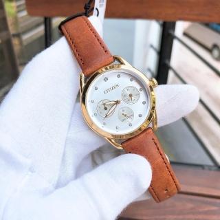 Đồng hồ Nữ Citizen Eco Drive năng lượng ánh sáng, dây da, kính cứng FD2052-07A thumbnail