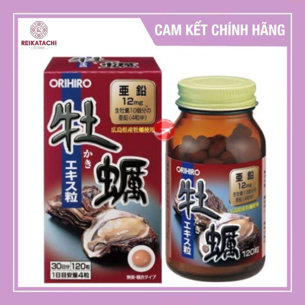 Viên uống tinh chất Hàu tươi Orihiro Nhật Bản 120 viên nhập khẩu