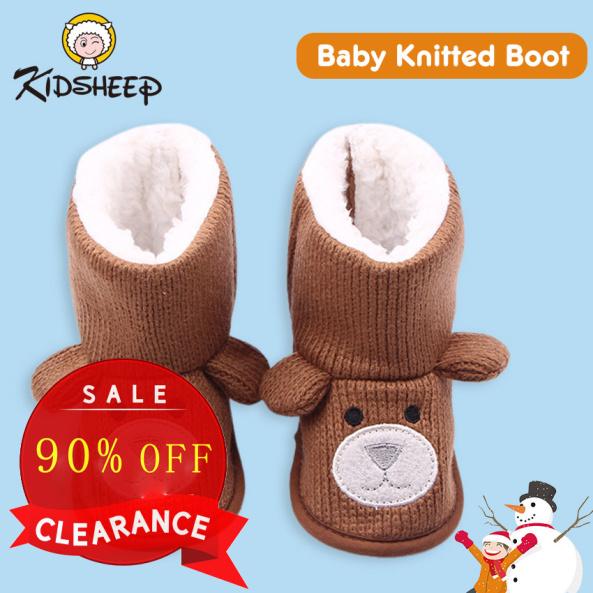 Kidsheep Giày trẻ em Giày cho trẻ mới biết đi Giày bông bé Làm dày và giữ ấm vào mùa đông giá rẻ