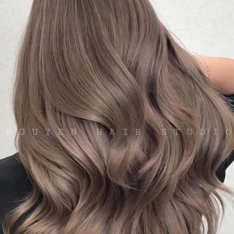Thuốc nhuộm tóc màu Nâu Sương Mù + tặng kèm oxi cao cấp