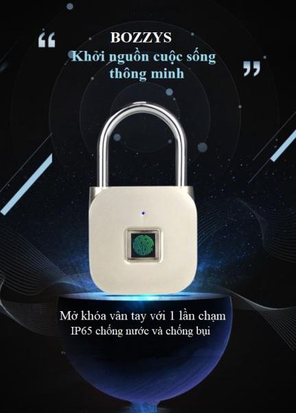 Ổ khóa vân tay BOZZYS, ổ khóa thông minh ngoài trời không thấm nước, khóa điện tử nhỏ, o khoa van tay, ổ khóa cửa vân tay, ổ khóa vân tây chống nước, ổ khóa thông minh vân tay, ổ khóa cửa bang mật mã, ổ khóa từ cho cửa
