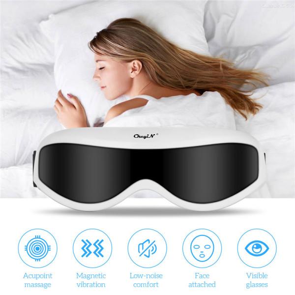 Máy mát xa mắt bằng điện CkeyiN cầm tay với 9 chế độ giúp giảm mỏi mắt thúc đẩy tuần hoàn máu cải thiện giấc ngủ - INTL