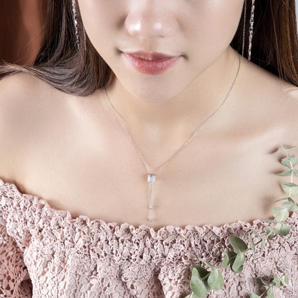 Dây Chuyền Nữ Bạc Đính Đá thiết kế cá tính Necklace D0420004 - Trang sức Mon Lilas