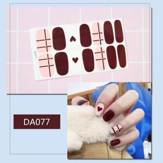 Bộ dán móng tay nail sticker gồm 14 móng mã DA061 - DA080 thumbnail