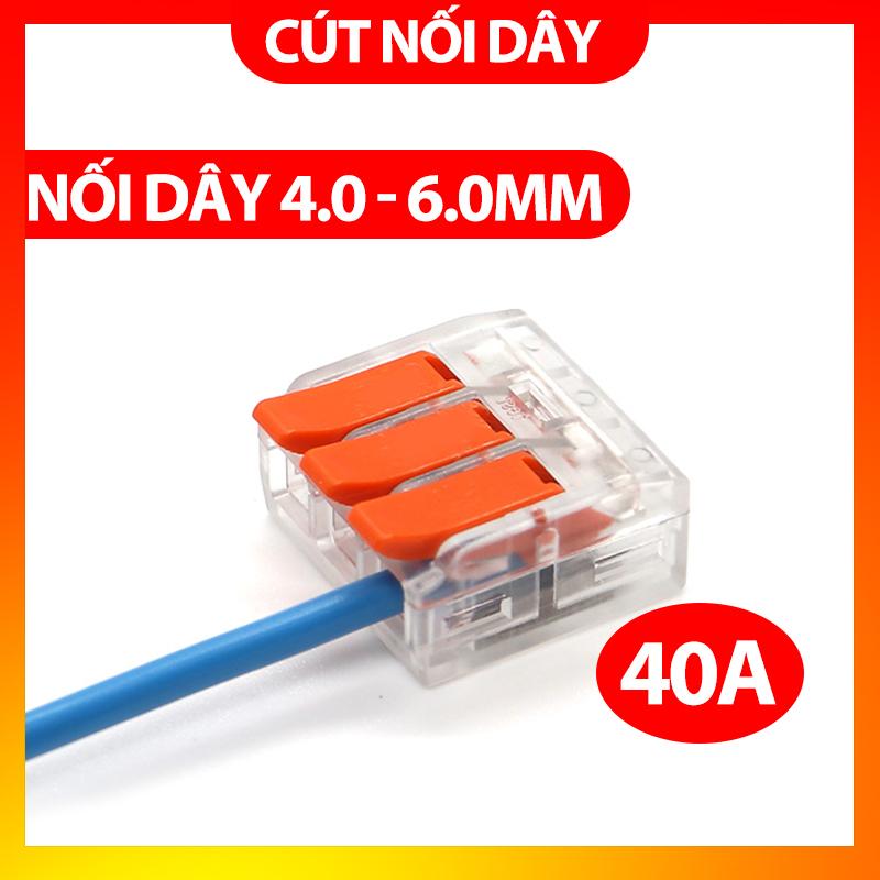 Bảng giá Cút nối dây điện nhanh PCT-612 613 615 - tối đa 6.0mm - chịu tải 40A