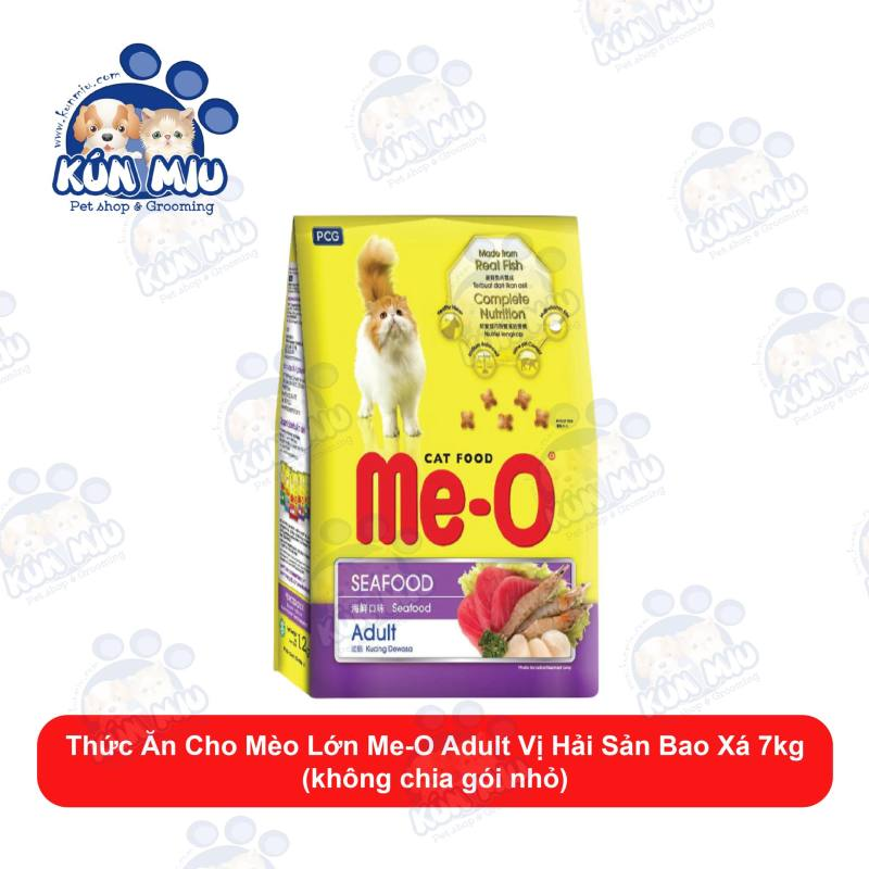 [Thu thập VC giảm thêm 20K] Thức ăn cho mèo lớn Me-O 7kg bao nguyên hạt không chia túi nhỏ (vị Cá Ngừ, Hải Sản &Cá Thu)