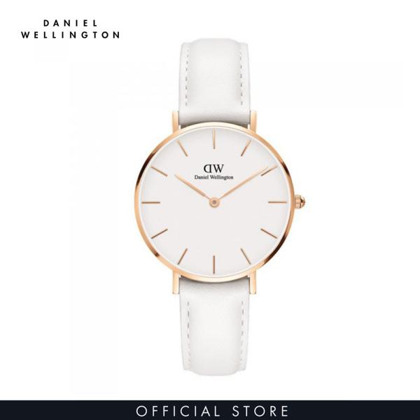 Đồng hồ Nữ Daniel Wellington dây da - Petite Bondi mặt trắng - vỏ vàng hồng