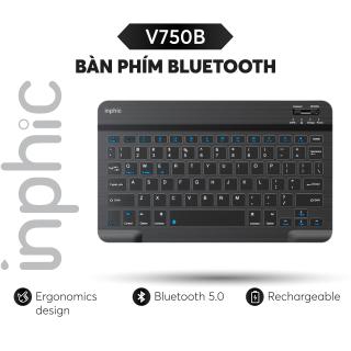 Bàn phím bluetooth Inphic V750B dùng cho iphone ipad android windows Kết nối 2 thiết bị - Chính Hãng thumbnail